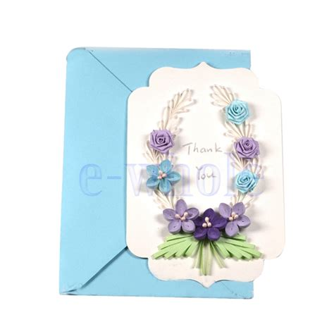 quilling paper vintage flower greeting cards template