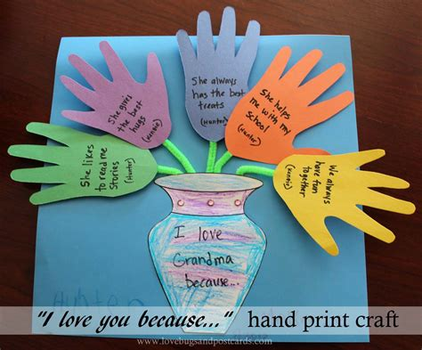 family crafts s day quot i you because quot print craft
