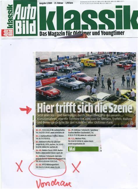 Autobild Inhalt by Renn Und Touring Club Eberstadt E V Im Adac