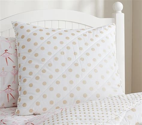 gold polka dot bedding gold polka dot quilted bedding pottery barn kids