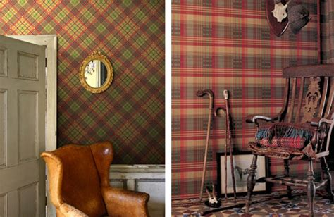 Log Home Interior Decorating Ideas Tartan Wallpaper In Style Blog