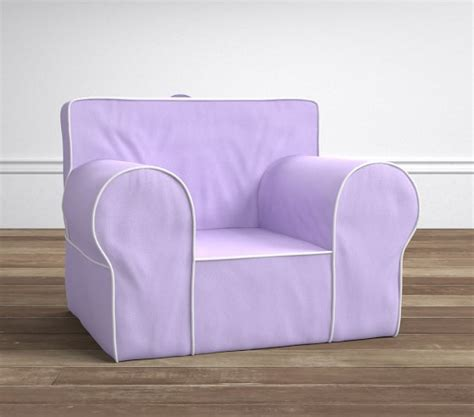 Oversized Anywhere Chair lavender with white pipe oversized anywhere chair 174 pottery barn