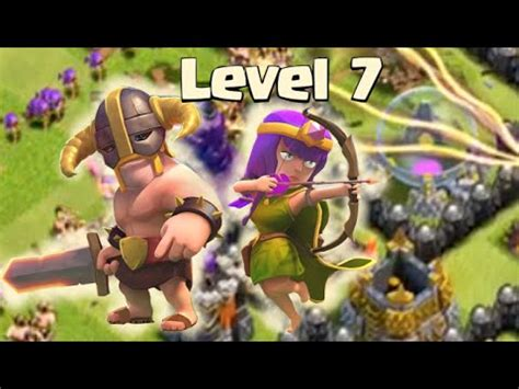 clash of clans barbarian level 7 clash of clans attacks barch update with level 7 archers