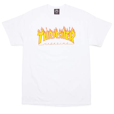 Thrasher White thrasher t shirt black