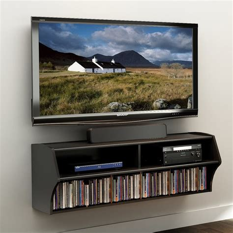 prepac wall mounted floating shop prepac furniture altus black wall mounted tv stand at