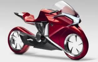 Honda Bicycle Honda S V4 Motorcycle Concept Model Has Hubless Wheels