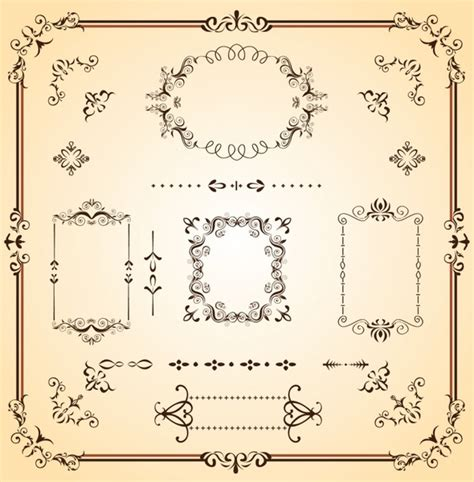border templates for adobe illustrator ornate borders and scrolls free vector in adobe