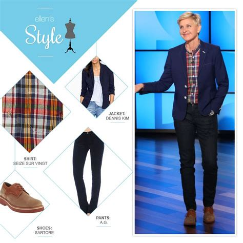 Degeneres Wardrobe Stylist by S Look Of The Day Navy Blazer Plaid Button Up Saddle Shoes S Style
