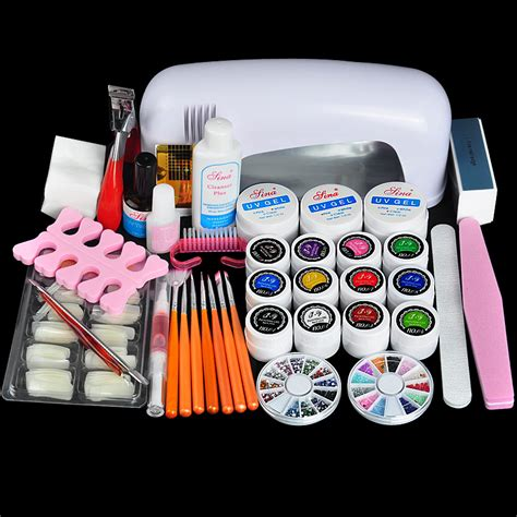 nail design art kit professional full set uv gel kit nail art set 9w curing