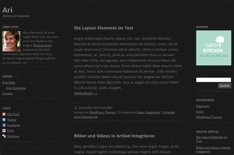 wordpress layout wechseln ari wordpress theme update jetzt mit dunkler theme