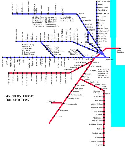 new jersey transit map world nycsubway org new jersey transit route map