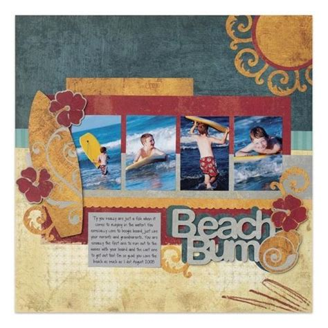 scrapbook layout ideas using cricut beach bum traveler cricut scrapbooking layout idea