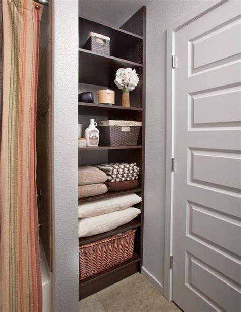 bathroom closet shelving ideas convenient and appropriate bathroom closet organizers
