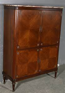 Armoire Liquor Cabinet by Superb Inlaid 4 Door Liquor Cabinet Armoire For