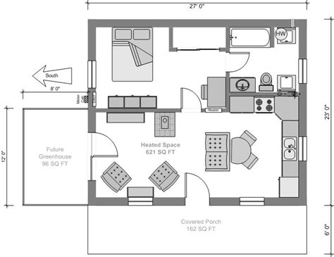 Small House Floor Plan by Tiny House Plans