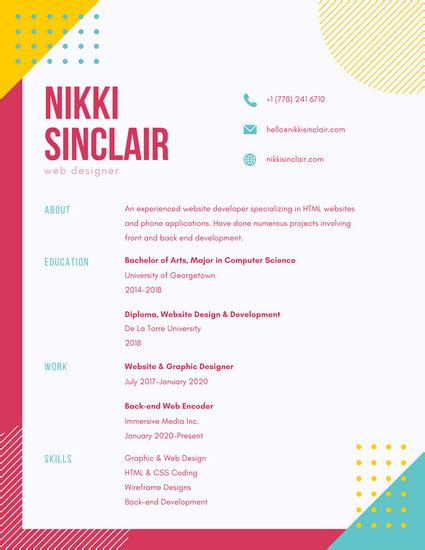 colorful resume templates free colorful resume templates canva