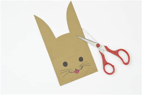 paper bag bunny template easter bunny paper bag puppet template images free