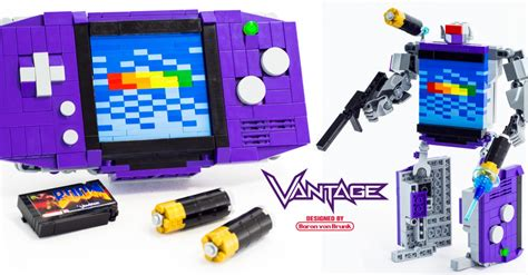 lego gameboy tutorial lego artist creates transforming game boy advance the