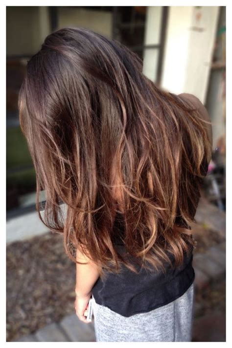 hair highlight for asian subtle transitions brunette balayage l tumblr