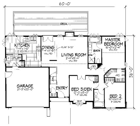 berry hill one story home plan 072d 0666 house plans and