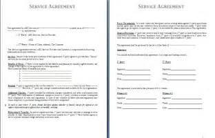 Free Service Agreement Contract Template by Service Agreement Template Free Agreement And Contract
