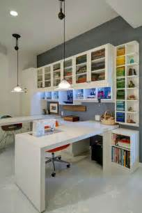 Craft Room Layout Designs Beautiful Home Office And Den With Built In Corner L
