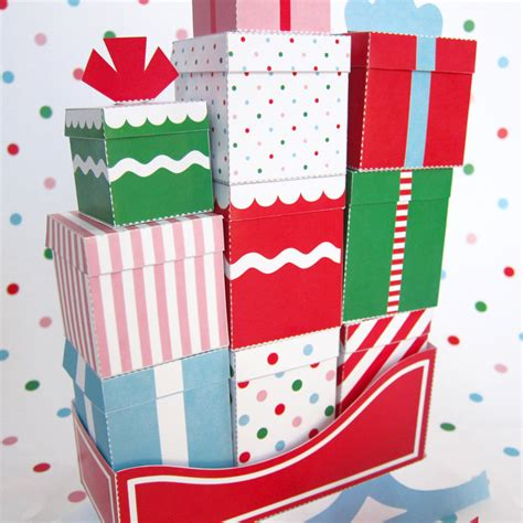 12 mini gift boxes with sleigh printable paper christmas