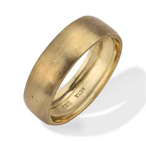 18k Gold Wedding Band by Wide Wedding Band Personalized Engraved 18k Gold Wedding