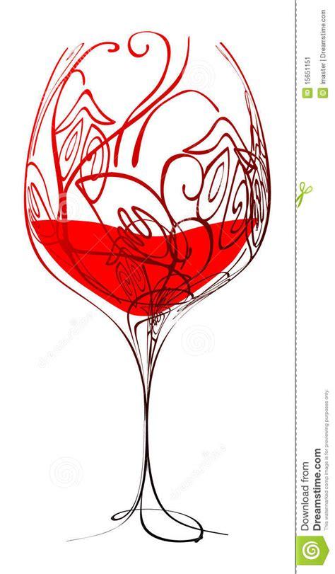 immagini bicchieri di bicchiere di stilizzato illustrazione di stock