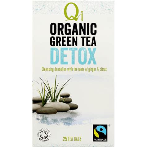 Qi Organic Green Tea Detox by Qi Wellness Organic Detox Green Tea Bags 25pk 40g Woolworths
