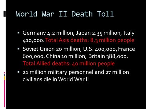Id Die A Million Deaths For These by Chapter 32 World War Ii Ppt