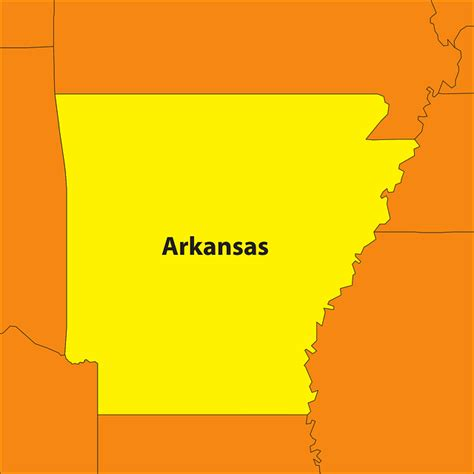 map of the united states arkansas geography map states arkansas state united