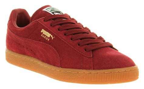 Kenz Classic Maroon Kenz lyst suede classic burgundy gum gold in for