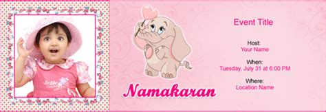 baby naming ceremony invitation card template free free baby naming namakaran invitation with india s 1