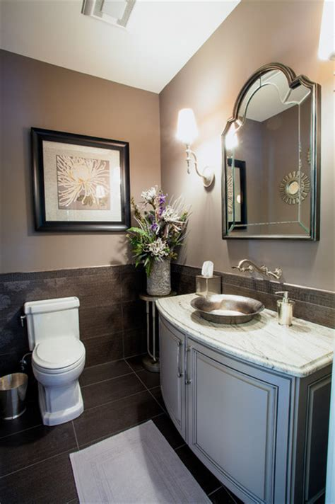 Modern Powder Room Vanity French Country European Style Home Traditional Powder