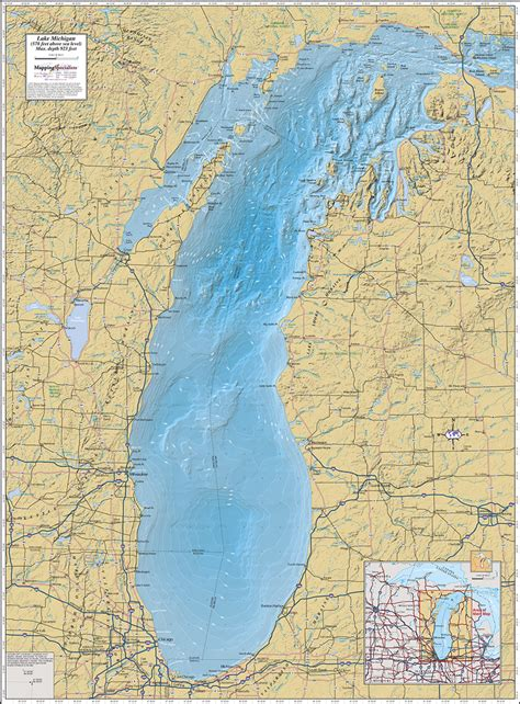 lake michigan map lake michigan map images
