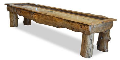rustic shuffleboard table ponderosa rustic shuffleboard