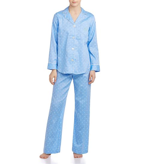 Pajamas Blue ralph classic notch collar sateen pajamas