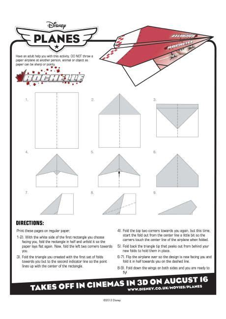 Directions For A Paper Airplane - 1000 images about paper planes on disney