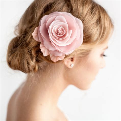 Wedding Hair With Roses by Blush Pink Hair Flower Bridal Hair Clip Blush By