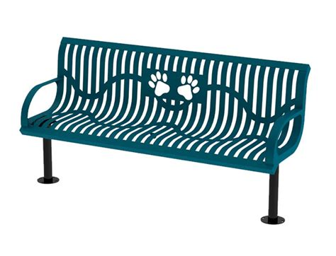 logo bench logo bench 6 ft classic wingline style bench with paws