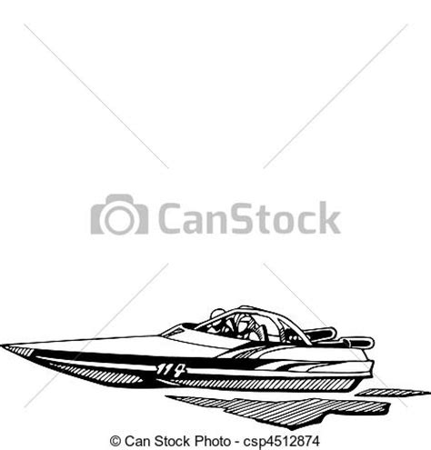 drawing of boat race eps vector of auto and boat racing csp4512874 search