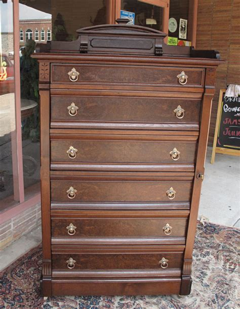 Side Dressers by Walnut Eastlake Side Lock Dresser