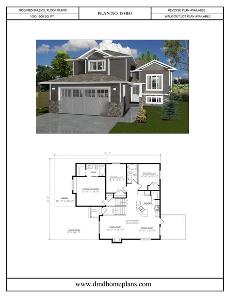bi level house plans with attached garage lovely