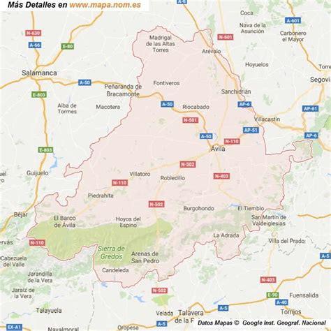 mapa de carreteras de asturias tama 241 o provincias de espa a mapa de carreteras callejeros mapa de avila provincia y pueblos pagina 1