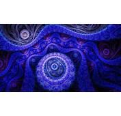 Blue Fractal Design Wallpaper 14395