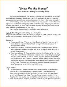 College Scholarship Essay Exles by 8 How To Write Scholarship Letter Receipts Template