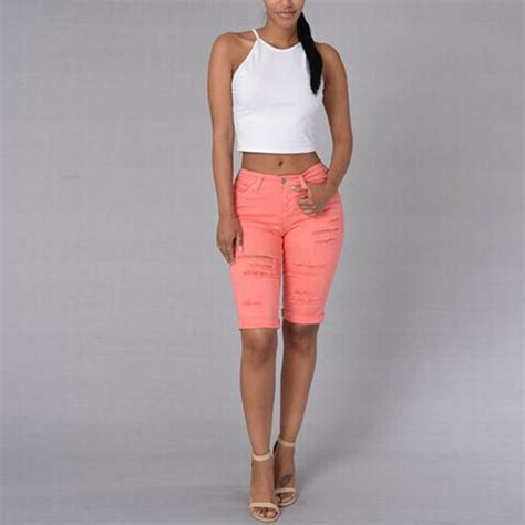 what length is in fashion for jeans in 2015 summer women capris pants 2017 fashion half length jeans