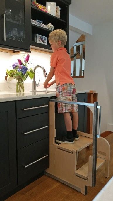 Cabinet Step Stool by Step 180 Integrated Cabinet Step Stools Hideaway Solutions