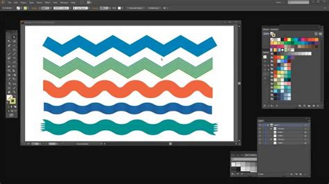 how to make a zigzag pattern in illustrator use adobe illustrator to make zig zags rickrack and wavy